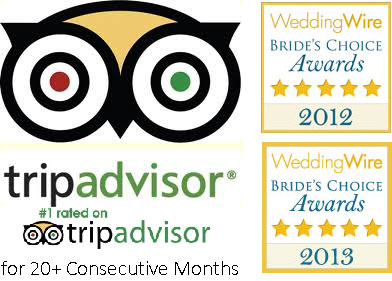 Rated #1 on TripAdvisor and 2012/2013 Wedding Wire Bride's Choice Award